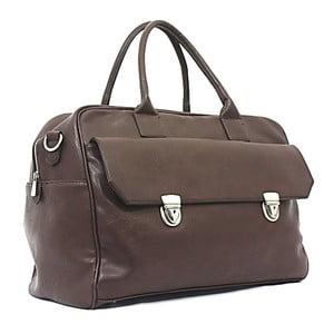 Cestovní taška Bobby Black - kávová, 45x33 cm
