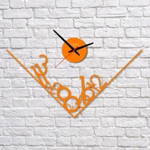 Nástěnné hodiny Orange Get Lost