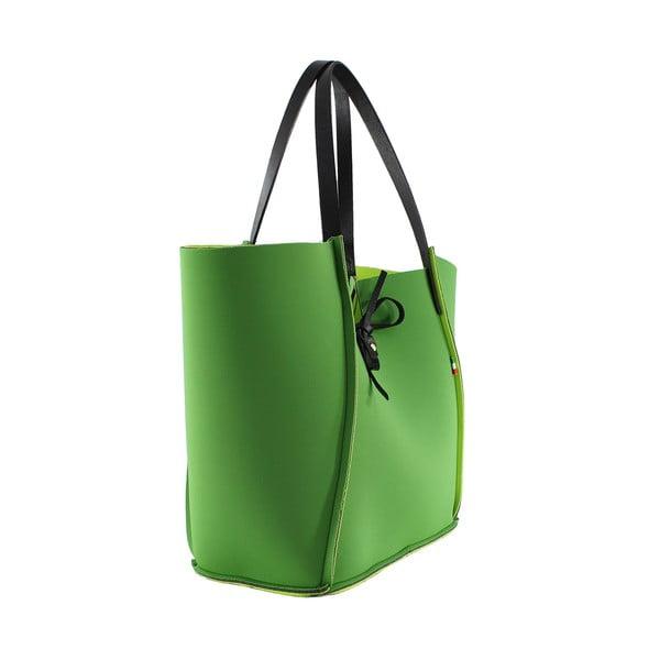 Neoprenová kabelka Fiertes, zelená