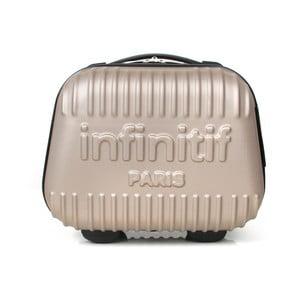 Světle růžový kosmetický kufřík s potiskem INFINITIF, 12l