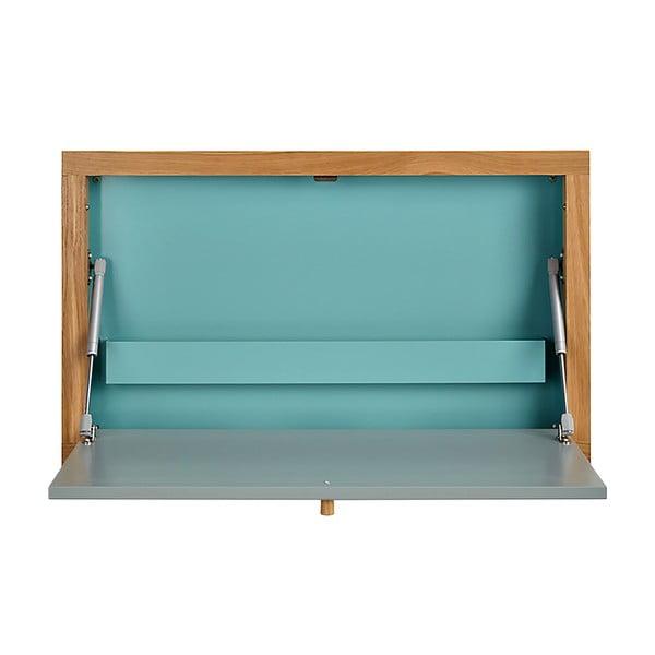 Masă extensibilă de perete Woodman Banti, albastru