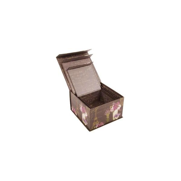 Sada 3 úložných krabic Brocante Brown