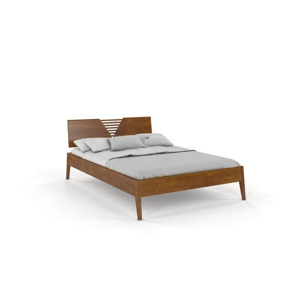 Dvoulůžková postel z bukového dřeva v dubovém dekoru Skandica Visby Wolomin, 140x200cm