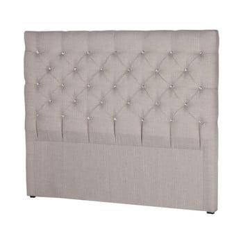 Tăblie pentru pat Stella Cadente Maison Pegaz, 140 x 118 cm, gri deschis de la Stella Cadente Maison