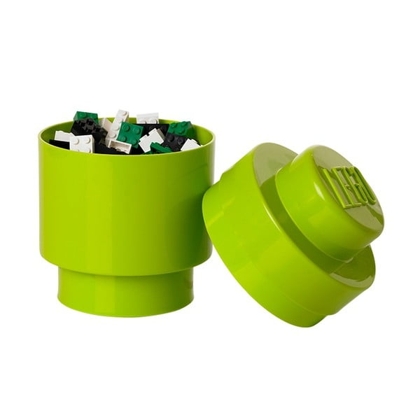Cutie depozitare rotundă LEGO®, albastru