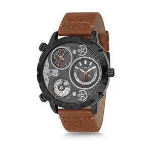 Pánské hodinky s hnědým koženým řemínkem Bigotti Milano Choco