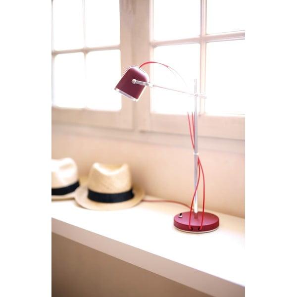 Stolní lampa SwabDesign Mob, červená