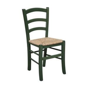 Zelená židle z bukového dřeva Crido Consulting Alis
