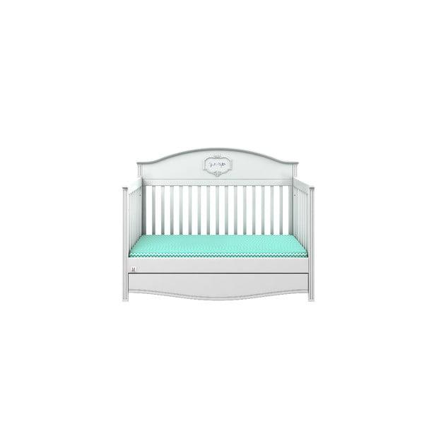 Pătuț variabil pentru copii cu sertar BELLAMY GoodNight, 70x140cm, alb