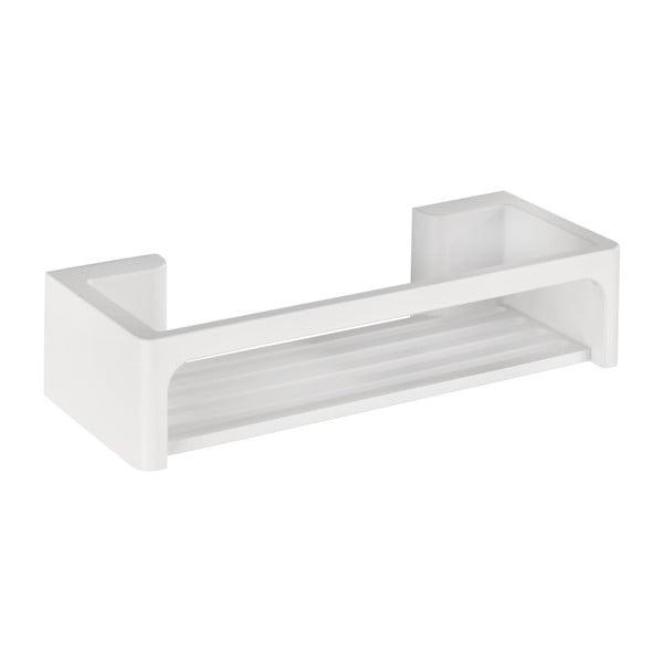 Biała samoprzyczepna półka łazienkowa Wenko Bralia