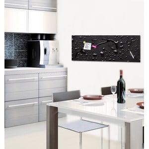 Magnetická tabule Eurographic Black Rain, 30x80cm