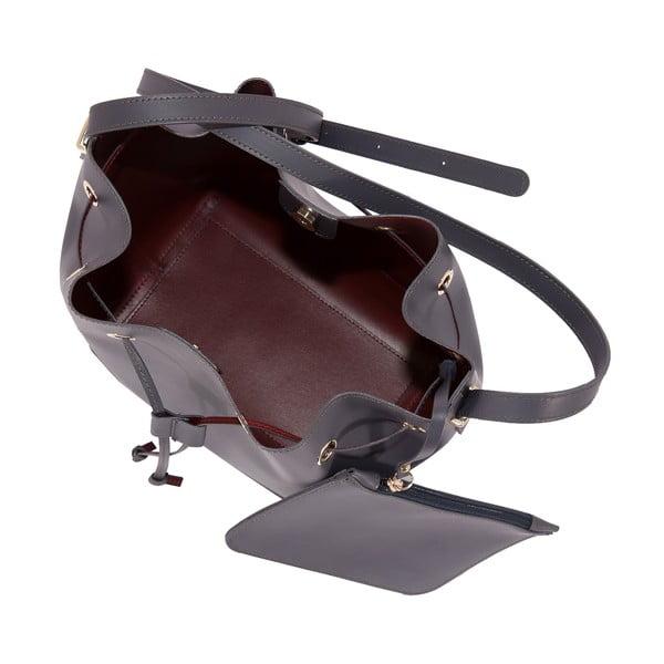 Tmavě šedá kabelka z pravé kůže Andrea Cardone Grey