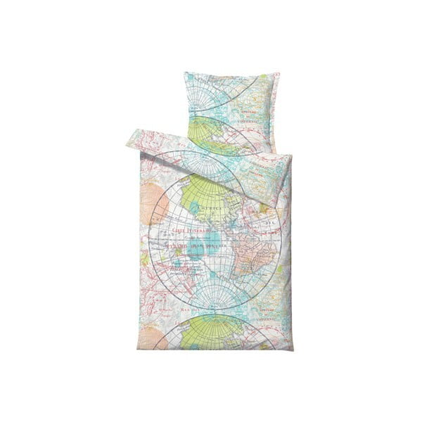 Povlečení World Map Paste, na jednolůžko (200x140 cm)