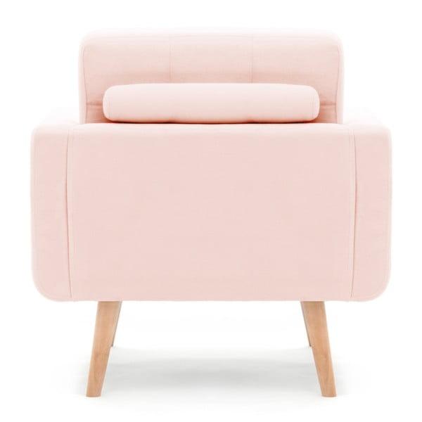 Fotoliu Vivonita Ina, roz pastel