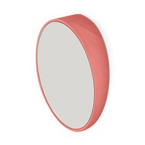 Červené nástěnné zrcadlo z bukového dřeva HARTÔ, Ø 20,5 cm