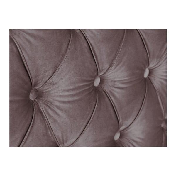 Fialové čelo postele Mazzini Sofas Anette, 200 x 120 cm