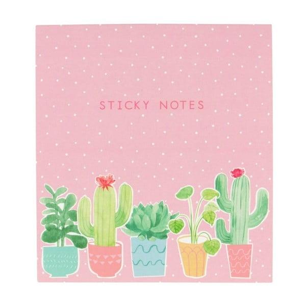 Sada lepíků Sass & Belle Pastel Cactus Sticky Note