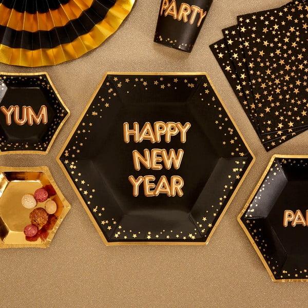 Set 8 farfurii din hârtie Neviti Happy New Year