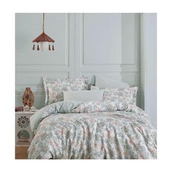 Lenjerie de pat din bumbac satinat cu cearșaf Denver, 160 x 220 cm de la Unknown