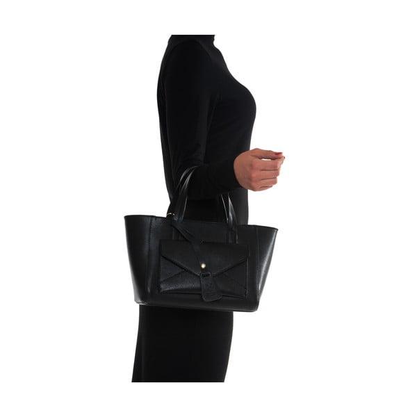 Kožená kabelka Mangotti 447, černá