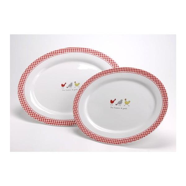 Sada servírovacích talířů Coco,34x40 cm, 2 ks