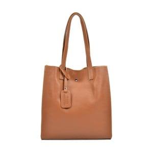 Koňakově hnědá kožená kabelka Isabella Rhea Clariss