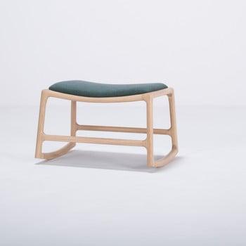 Scaun/taburet cu construcție din lemn de stejar Gazzda Dedo, verde