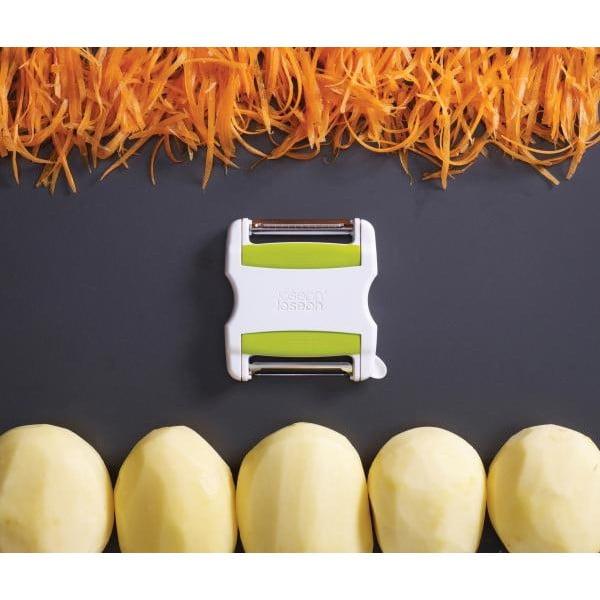 Dvoustranná škrabka Switch Peeler, bílá/zelená