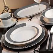 Porcelánový talířový set Classic Grey, 24 ks
