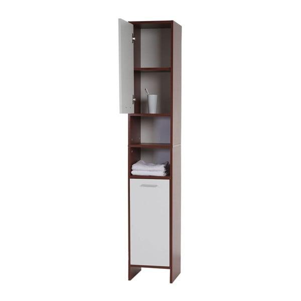 Koupelnová skříňka Sonoma Brown/White, 31,5x179 cm