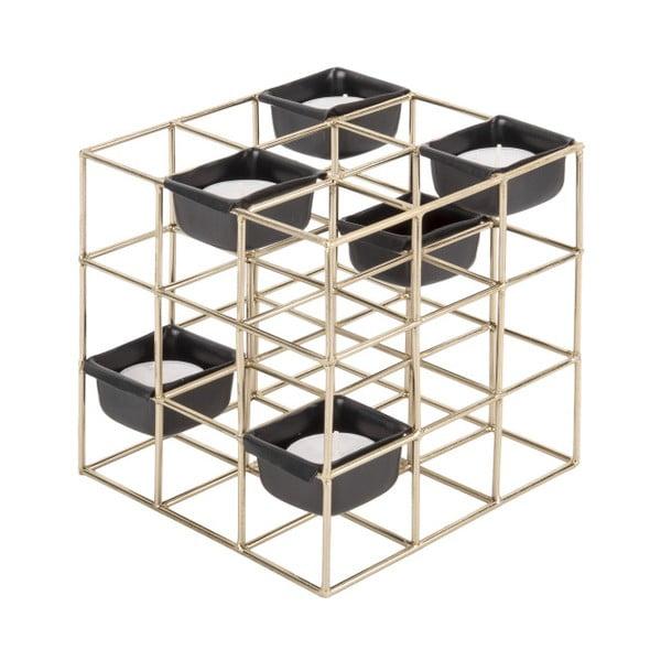 Structure Square aranyszínű fém gyertyatartó - PT LIVING