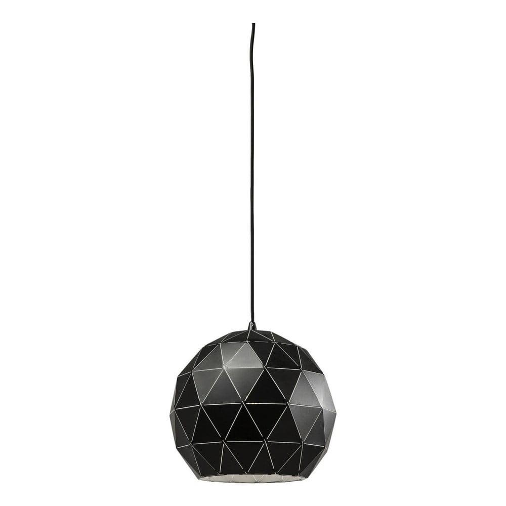 Černé stropní svítidlo Kare Design Triangle, Ø 30 cm