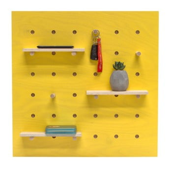 Organizator de perete Ragaba TRIVENTI, 60 x 60 cm, galben de la Ragaba