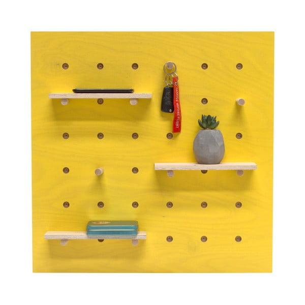 Žlutý nástěnný organizér Ragaba TRIVENTI, 60x60cm