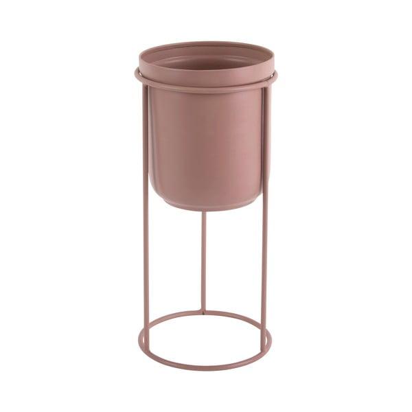 Tub világos rózsaszín fémkaspó, magasság 27 cm - PT LIVING