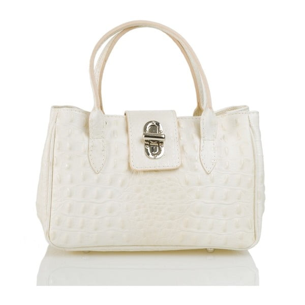 Kožená kabelka Laura, bílá