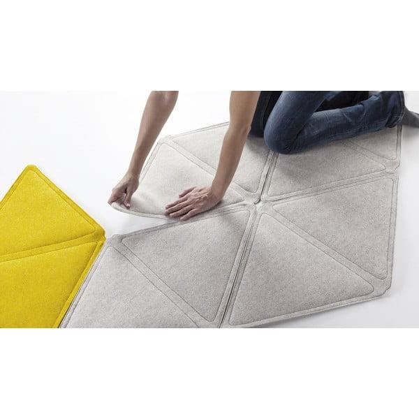 Modulový koberec Edera, žlutý