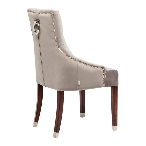 Béžová židle s nohami z bukového dřeva Kare Design Prince