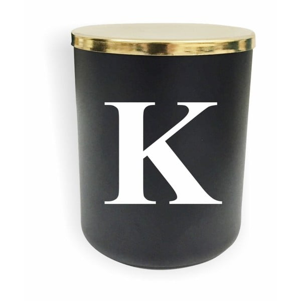 Černo-bílá svíčka North Carolina Scandinavian Home Decors Monogram Glass Candle K