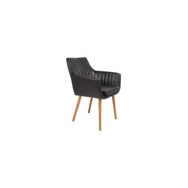 Černá jídelní židle White Label Pike
