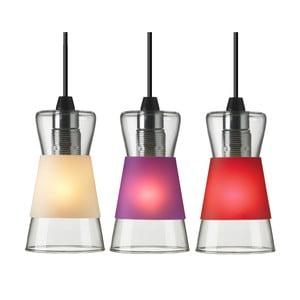 Stropní světlo Pure se třemi výměnnými stínítky, bílá/červená/fialová