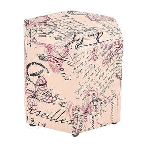 Podnožka/stolek Pink Butterfly
