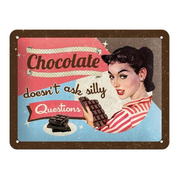 Plechová cedule Chocolate Questions