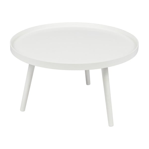 Mesa dohányzóasztal, fehér, Ø 78 cm - WOOOD
