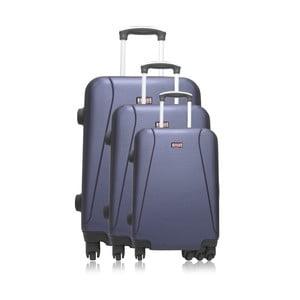 Sada 3 modrých cestovních kufrů na kolečkách Hero Bobby