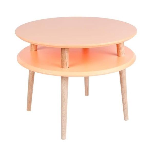 Konferenční stolek UFO 45x57 cm, oranžový