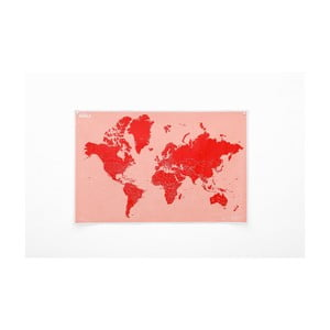 Zmačkaná nástěnná mapa světa se státy Palomar Countries