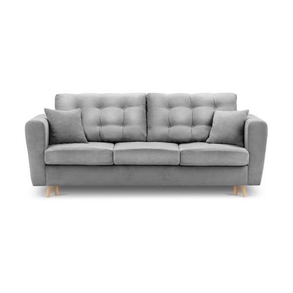 Szara rozkładana sofa ze schowkiem Kooko Home Highlife