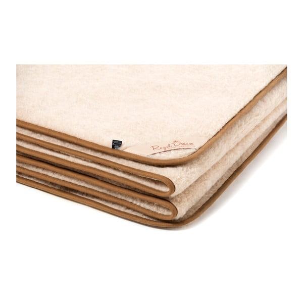 Cappucino barna-bézs tevegyapjú takaró, 220 x 200 cm - Royal Dream
