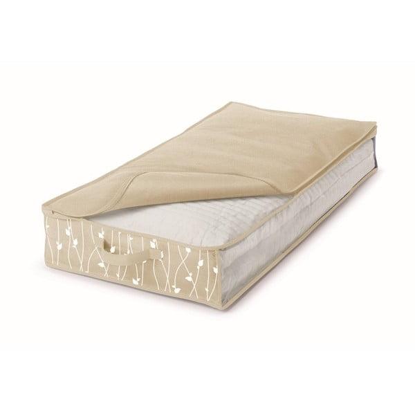 Béžový úložný box pod postel Cosatto Leaves, šířka50cm